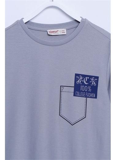 Silversun Kids Tişört Örme Uzun Kollu Baskılı Tişört Erkek Çocuk Bk-312482 Antrasit